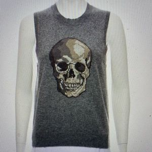 Skull Cashmere Sleeveless Seeater